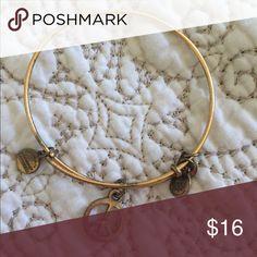 Alex & Ani bracelet Gold Peace symbol Alex & Ani bracelet. A little tarnished. No card or box Alex & Ani Jewelry Bracelets