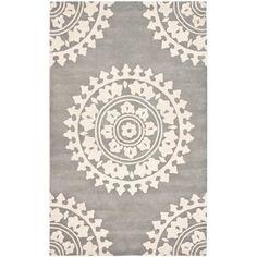 Handmade Soho Chrono Grey/ Ivory New Zealand Wool Rug (7'6 x 9'6) | Overstock.com