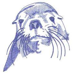 Sea Lion embroidery design