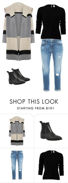 """color block coat"" by tracie-renae on Polyvore featuring Vince, Office, Frame Denim and Oscar de la Renta"