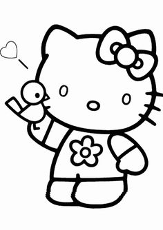 The 133 Best Hello Kitty Coloring Pages Images On Pinterest