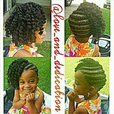 Side braids twist out
