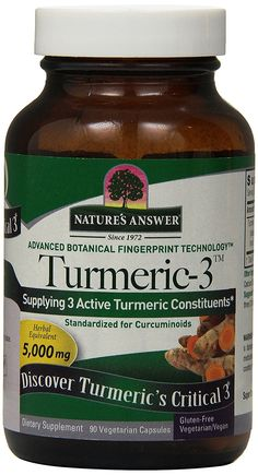 Nature's Answer Turmeric-3, 90-Count >>> New and awesome product awaits you, Read it now  : Herbal Supplements