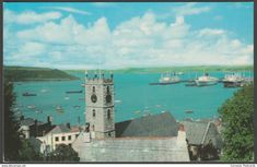 The Parish Church and Harbour, Falmouth, Cornwall, 1970 - Postcard