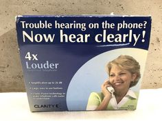 Clarity W1000 Amplified Telephone for Hearing Impaired Large Keypad #Clarity