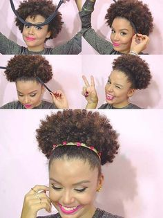 The protective style known as the curly puff Natural Hair Updo, Pelo Natural, Natural Hair Journey, Natural Hair Styles, African Hairstyles, Afro Hairstyles, Pelo Afro, Natural Hair Inspiration, Hair Dos