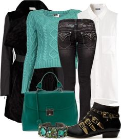 """Green with envy"" by helenrosemay on Polyvore"