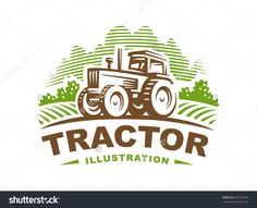 Tractor Logo Illustration, Emblem Design - 475253596 : Shutterstock