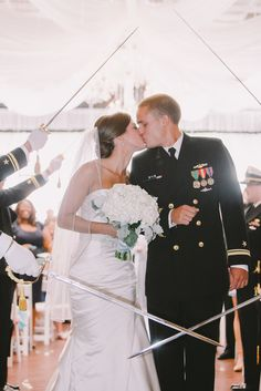 This stunning Southern couple incorporated his military background flawlessly.