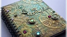 Steampunk Mixed Media Journal Cover Tutorial - YouTube