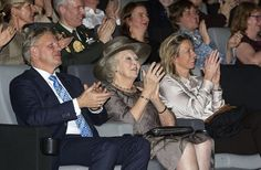 Princess Beatrix of The Netherlands attended the premiere of the 5th series of Dutch Masters ( Hollandse Meesters) in the 21st century at the EYE Museum of Amsterdam on January 23, 2016 in Amsterdam.