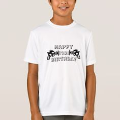 Happy Birthday ray-gun show the year T-Shirt - click/tap to personalize and buy Personalized Gifts For Kids, Personalized T Shirts, Custom Gifts, Fathers Day Shirts, Boys T Shirts, Types Of T Shirts, Happy Words, Golf Humor, Funny Tshirts