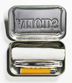 Carry some emergency TP in an Altoids container.
