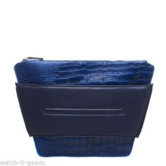 471f5531d1ac    SOLD   GX by Gwen Stefani ZAMA Blue Croc Clutch
