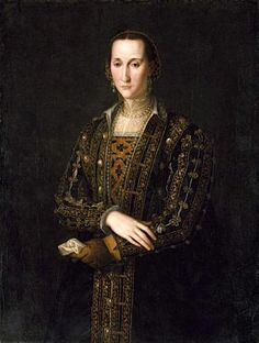 Eleanor of Toledo, Duchess of Florence. Painting by the workshop of Bronzino, after 1560