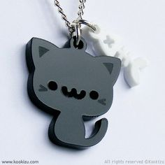 Image shared by Hawaii Kawaii. Find images and videos about black, cat and kawaii on We Heart It - the app to get lost in what you love. Kawaii Jewelry, Cat Jewelry, Jewlery, Kawaii Cat, Kawaii Shop, Cute Dog Tags, Art Et Design, Closet Accessories, Cute Japanese