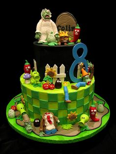 Love another pinners Plants vs. Zombies Cake