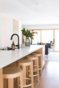Modern minimalist kitchen with all wood cabinetry. Modern kitchen organization would be the heaven of housewife or housemen, You will find some modern kitchen decor ideas via this gallery.