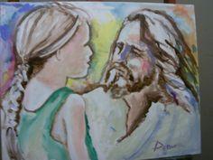 Turn your eyes upon Jesus..Painted tonite  at worship service
