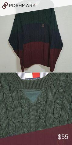 Vintage Tommy Hilfiger Men's Oversize Sweater L 90s Vintage Tommy Hilfiger Sweater  Perfect Condition  Size L (Oversize fits like Men's XL) Big, stylish & comfy Tommy Hilfiger Sweaters Cardigan
