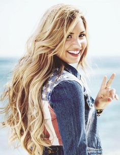 demi long hair
