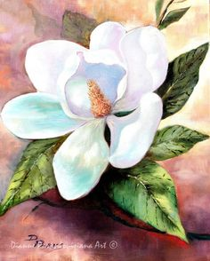 Magnolia Blooms - Magnolia Grandiflora, Louisiana State Flower, New Orleans Art, Foliage, Magnolia, Louisiana Art by New Orleans Artist