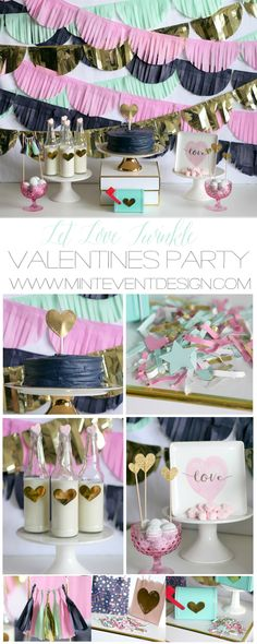 Valentines Day party idea / Valentines day dessert table / Valentines day party for kids / Valentines day dessert ideas / valentines day DIY / Valentines day party decor / Tissue paper backdrop idea / Styled by Carolina from MINT Event Design / www.minteventdesign.com