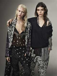 COME AS YOU ARE: MEGHAN COLLISON AND JULIANA SCHURIG BY JOSH OLINS FOR UK VOGUE MARCH 2013