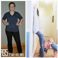 Crossfit at home, very inspirational girl. This is my plan after baby gets here.