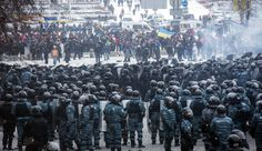 Massive Protests Rock Kiev Protests spread to the rest of the country. Violent clashes break out between protesters and security forces.