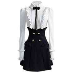 Black And Wide Shirt Style Dress - Polyvore