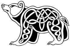 Arzh by Netcheret on DeviantArt Art Viking, Viking Symbols, Viking Designs, Celtic Knot Designs, Celtic Animals, Symbole Viking, Leather Tooling Patterns, Bear Drawing, Arte Tribal