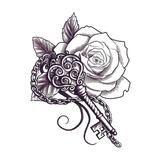 Flower and Key Symbol