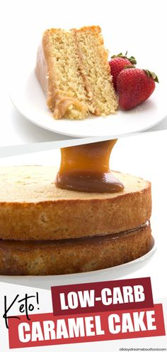 Seriously dreamy this keto friendly caramel cake will blow your mind. No one will believe this sweet tender almond flour cake with sugar-free caramel frosting is low carb and grain-free. It's the real deal! Seriously dreamy this keto friendly caramel cake Low Carb Sweets, Low Carb Desserts, Low Carb Recipes, Dessert Recipes, Ketogenic Desserts, Recipes Dinner, Cupcake Recipes, Dessert Ideas, Ketogenic Diet