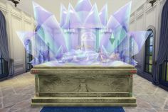 [ SIMS 4 ] Silver Crystal's Tomb/ Bed