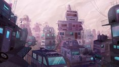"""ivyt: """"Illustration of The Stacks from Ready Player One """""""