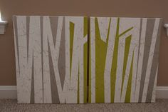 DIY Abstract Art:: Doing this in the living room!