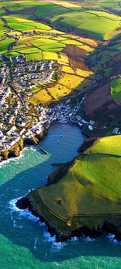 Port Isaac, Cornwall, From Above By Andrew Turner (Setting for Doc Martin) Places Around The World, The Places Youll Go, Places To See, Around The Worlds, Beautiful World, Beautiful Places, Port Isaac, England And Scotland, England Uk