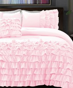 Powder Pink Flamenco Taylor Comforter Set