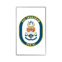 USS Ingraham Magnet now available! Show your Navy Service pride on your refrigerator, car, file cabinet and other metallic surfaces! This custom magnet is 3 inches tall and 2 inches wide. Designed, Printed & Sublimated in the USA!