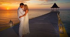 When the stars align, we are left with an absolutely perfect twilight wedding photo.✨ Romantic Escapes, Romantic Vacations, Romantic Getaway, Jamaica Resorts, Beach Resorts, Destination Wedding Inspiration, Destination Wedding Photographer, Honeymoon Deals, Wedding Blog