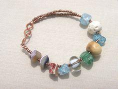 Boho Beach Elements- Bracelet by elysianstudiosart, via Flickr