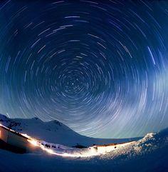 My homeland at night: the stars & Mt. Elbrus.     Time lapse photo of #Circassia #Caucasus