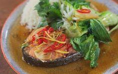Vietnamese Caramel Salmon with Sticky Rice Recipe by Donal Skehan