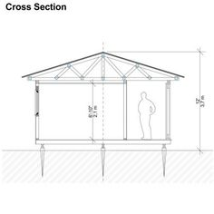 Garden Storage Shed Plans - Pin-Up Houses Garden Storage Shed, Outdoor Storage Sheds, Storage Shed Plans, Built In Storage, Building A Tiny House, Shed Building Plans, Building Ideas, Building Design, Shed Playhouse