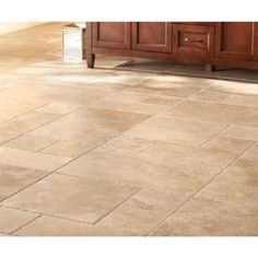 Generate a rustic look to your decor with this MS International Mediterranean Walnut Pattern Honed-Unfilled-Chipped Travertine Floor and Wall Tile. Limestone Flooring, Travertine Floors, Natural Stone Flooring, Hardwood Floors, Wall And Floor Tiles, Wall Tiles, Kitchen Flooring, Porch Flooring, Kitchen Tile