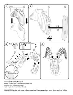 Assembly Instructions, Large, Medium & Small Sizes