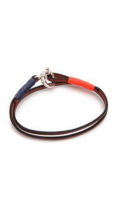 Caputo & Co. Wrap Bracelet with Silver Lock  Casual accessory (Men)