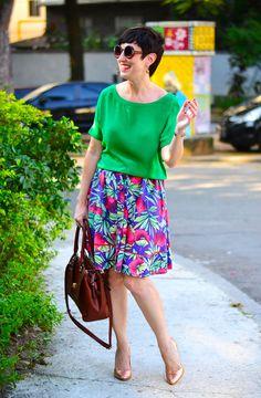 Como usar sua saia floral