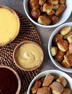 Soft Pretzel Bites, Three Ways by Annie's Eats